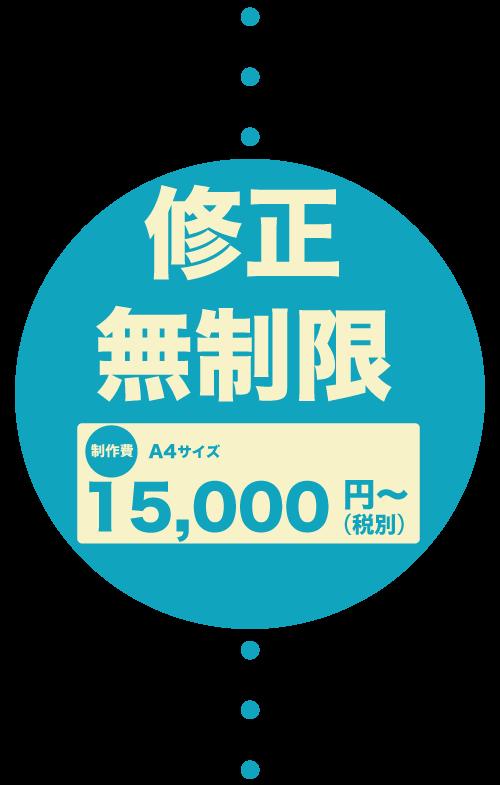 修正無制限A4サイズ¥15000~